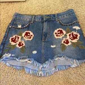 COPY - Free people jean skirt